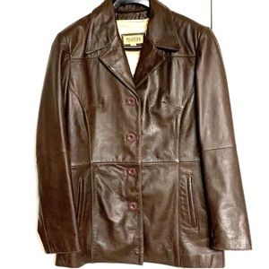New Brown Leather Thinsulate Coat